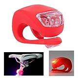 KooPower LED Silikon Fahrrad Bicycle Bike Wateproof Leuchten Fahrradlampe 2 Pack Weiß & Rot Fahrrad Licht