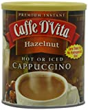 Caffe D'Vita Hazelnut Cappuccino, 1-Pound Cans (Pack of 6)