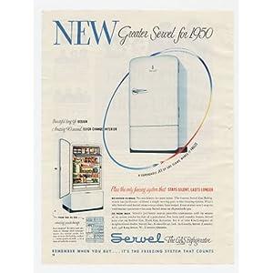 1950 Servel Gas Refrigerator Print Ad (3695)