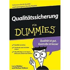 Qualitatskontrolle Fur Dummies (German Edition)