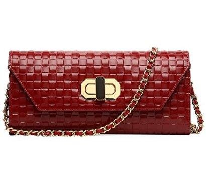 CLUCI-Women-Leather-Clutch-Purse-Handbags-Wallets-Cross-body-Shoulder-Bags