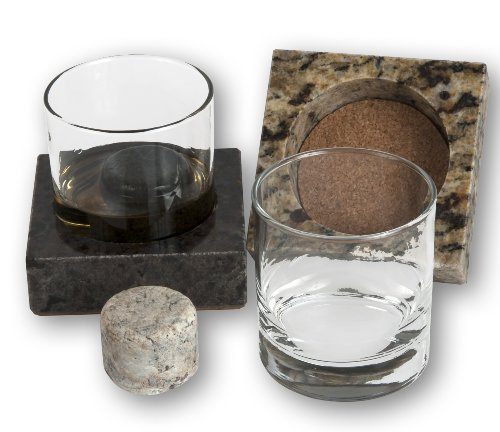 Solid Granite Whisky Stones and Coaster