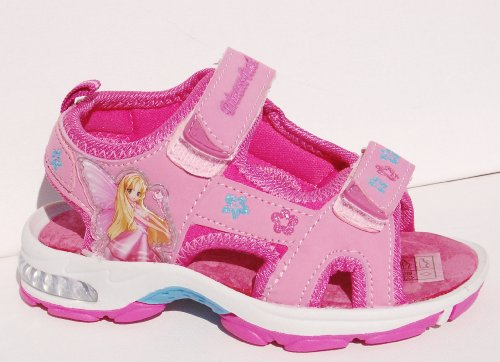 Kennedy Schuhe Kinder Sandale pink Prinzessin ,blinkende Sohle , Klettverschluß