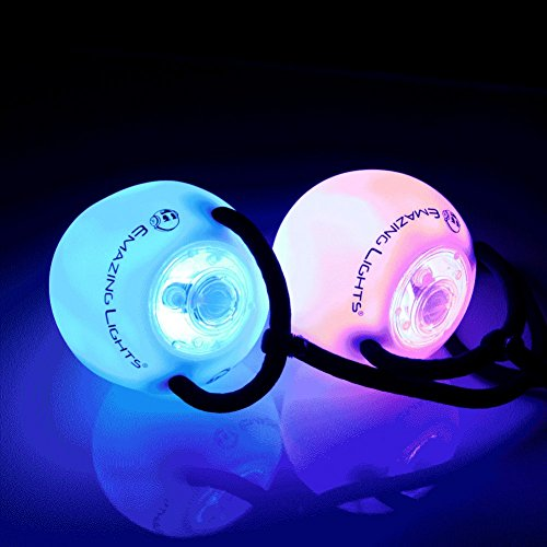 Emazing Lights eLite Flow Rave Poi Balls – Spinning LED Light Toy (Set of 2)