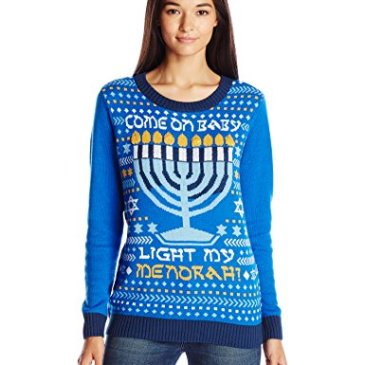 Ugly Christmas Sweater Women's Light-Up Light My Menor