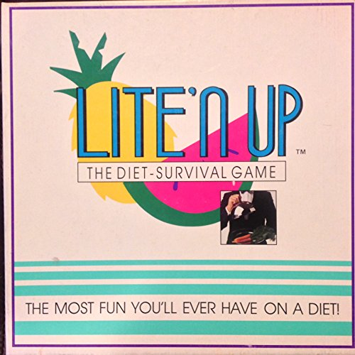 Vintage 1990 Lite'n UP The Diet Survival Board Game - The Most Fun You'll Ever Have on a Diet!