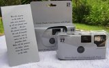 5-Pack-Disposable-Wedding-Cameras-Plain-Shiny-Silver-35mm-27-Exp-New-in-Gift-Boxes