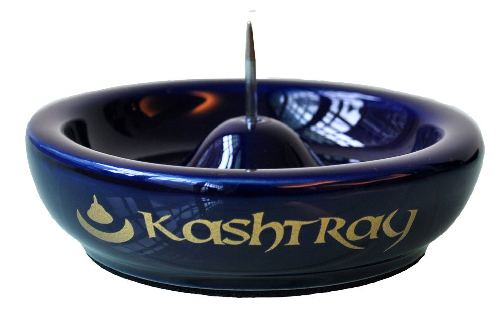 The Original Kashtray - World's Best Ashtray! With Built-in Bowl Scraper - No more banging and breaking.