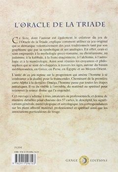 Livres Couvertures de L'Oracle de la Triade