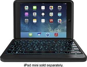ZAGG Rugged Folio Case with Hinged Cover and Keyboard for iPad Mini Retina and iPad Mini