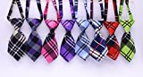 Yagopet 10pcs/pack New Pet Dog Neckties Fashionable Cute Plaid Style Business Designs Dog Ties Adjustable Pet Grooming Products Dog Accessories Cute Gift