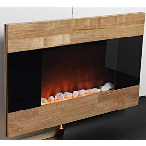 Top 10 Best Wall Mounted Electric Fireplace Reviews 2018 Electric Fireplace Wall Mount Space Heater Indoor Wooden Front Finish by  Ideas in Life