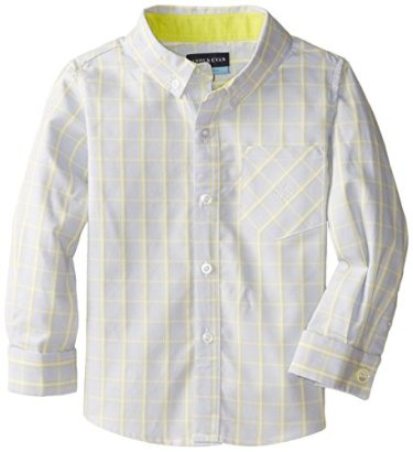Andy-Evan-Little-Boys-Blue-Yellow-Check-Shirt