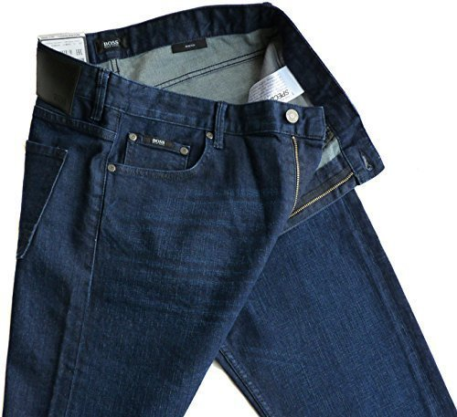 %%% Stylische HUGO BOSS Stretch-Jeans W34/L32 CHARLESTON, SLIM FIT