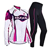 Sponeed Women's Cycle Jersey Bike Clothing Gel Padded Long Sleeve Nobility Size M US Purple
