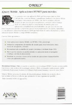 Portada del libro dejQuery Mobile. Aplicaciones HTML5 para móviles (Anaya Multimedia/O¿Reilly)