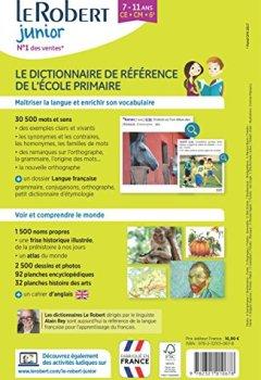 Livres Couvertures de Dictionnaire Le Robert Junior illustré - 7/11 ans - CE-CM-6e - Édition anniversaire
