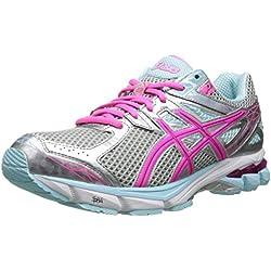ASICS Women's GT-1000 3 Running Shoe,Lightning/Hot Pink/Mint,8.5 D US