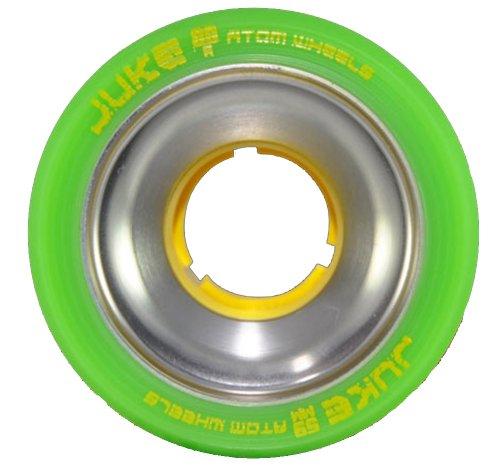 Hyper Shaman Speed Skate Wheels Green 93A 62mm X 40mm Full Set Of 8