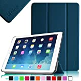 Fintie SmartShell Case for Apple iPad Air (iPad 5 5th Generation) Ultra Slim Lightweight Leather Stand (with Smart Cover Auto Wake / Sleep) - Navy