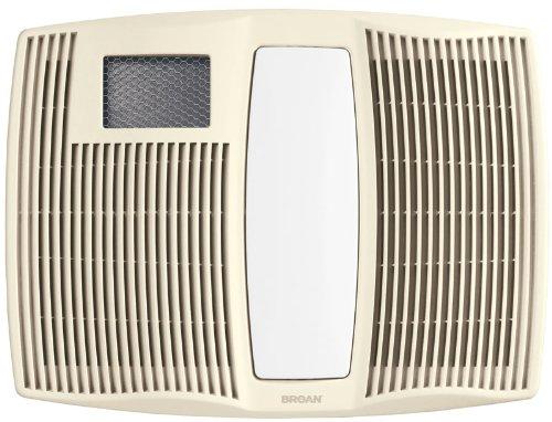 Broan QTX110HL Ultra Silent Series Bath Fan With Heater