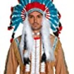 Smiffy's Unisex-Adult Indian Headdress