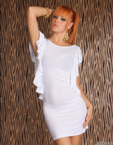 Elegantes Minikleid mit kurzen Volant-Ärmel