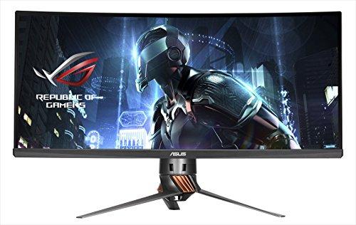 ASUS Gaming モニター 34型 ウルトラワイドディスプレイ ROG SWIFT ( フリッカフリー / 応答速度5ms / 3440×1440 / IPSパネル / GSYNC / Displayport × 1, HDMI × 1 / 3年保証 ) PG348Q