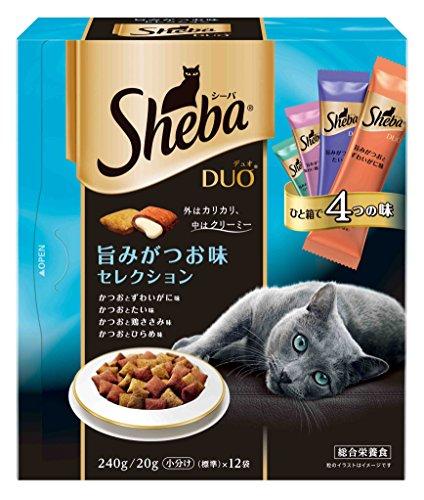 シーバ (Sheba) デュオ 旨みがつお味セレクション 240g(20g×12袋入)×2個セット SDU13 51xp 3882WL