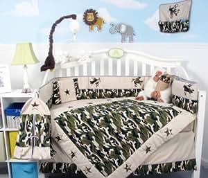 Amazon Com Soho Boy Camouflage Army Baby Crib Nursery