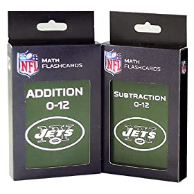 NFL New York Jets Addtion and Subtraction Flash Card Set