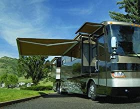 reviews aleko rv awning retractable patio awning 12ft x 10ft 3 5m x 3m solid beige color camper awning sale bnkjgfw