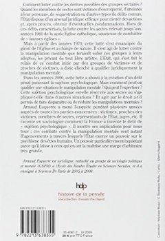 Livres Couvertures de La manipulation mentale : Sociologie des sectes en France