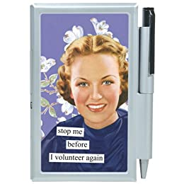 "Product Image Anne Taintor Note Case - ""Volunteer"""