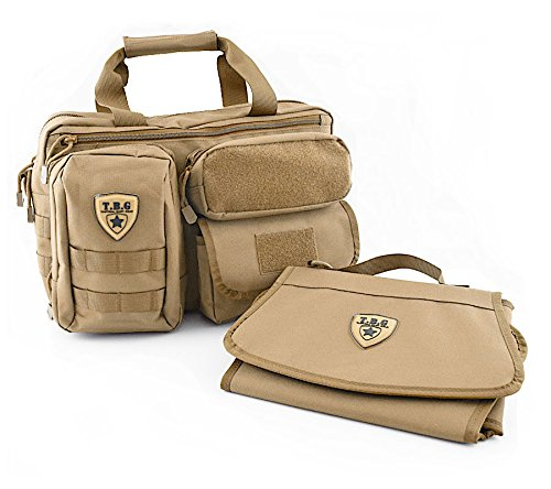 a7815db0b35 Tactical Baby Gear Military Style The Deuce 2.0 MOLLE Diaper Bag + Changing  Mat Pad (Coyote Brown)