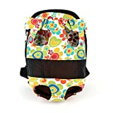 Froomer Pet Dog Cat Carry Tote Bag Puppy Travel Canvas Backpack Portable Bag Sunflower X-Small