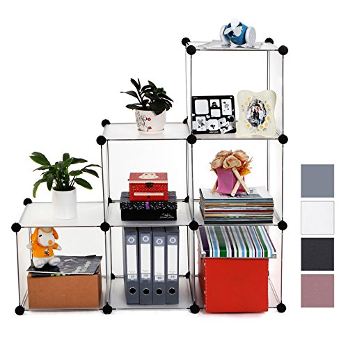 Songmics® Stufenregal Lagerregal Regal Schrank Kleiderschrank Garderobe Bücherregal Kommode Regalsystem
