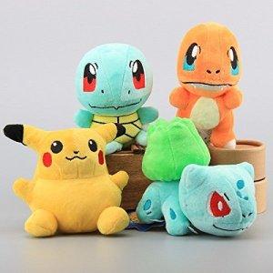OliaDesign-Pokmon-Pikachu-Bulbasaur-Squirtle-Charmander-Soft-Plush-4-Pieces