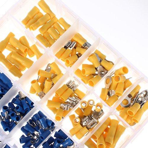 480x Cosse Electrique plates Connecteurs Isol/ées /à Sertir Assortiment sertissage