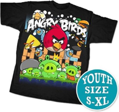 ANGRY-BIRDS-ANGRIEST-ATTACK-BLACK-YOUTH-SS-TEE-Youth-Large