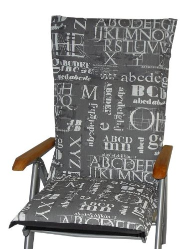 Liegen Auflagen Kissen Polster Stuhlkissen für Gartenstühle // Maß:ca. 190x60cm // Dicke ca. 9cm stark