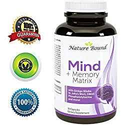 Super Potent & Natural Brain, Memory & Mind Booster ● Power Boost for Day and Night! Increase Function ● Works Fast for Women and Men ● USA Made By Nature Bound