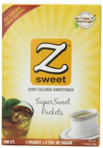 Zsweet All Natural Supersweet, 100 Count, 3.5 Ounce, (Pack of 3)