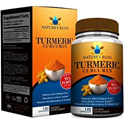 EXTREME Anti-Inflammatory 1300mg Curcumin (Turmeric) ★ 120 Veggie Capsules ★ Dietary Supplement Supports Strong Muscle and Joints for All Natural Pain Relief ★ Supports a Healthy Immune System ★ All Natural Organic Quality Antioxidant Supplement for the Best Absorption Available""