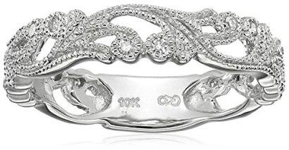 10k-White-Gold-Diamond-Ring-110-cttw-H-I-Color-I1-I2-Clarity