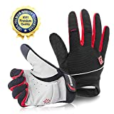 Zookki Cycling Gloves Mountain Bike Gloves Road Racing Bicycle Gloves Light Silicone Gel Pad Riding Gloves Touch Recognition Full Finger Winter Warm Gloves Men/Women Work Gloves