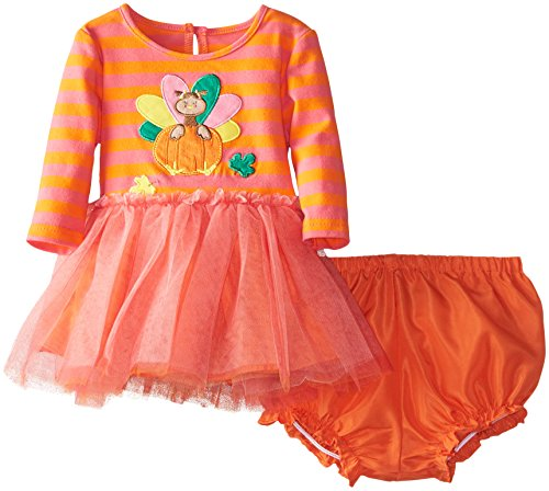 Marmellata Baby-Girls Newborn Turkey Tutu Dress, Pink/Orange, 3-6 Months