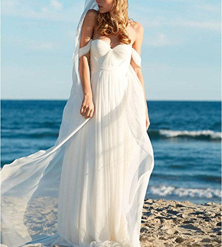 Lovelybride Elegant a Line Empire Long Chiffon Bridal Beach Wedding ...