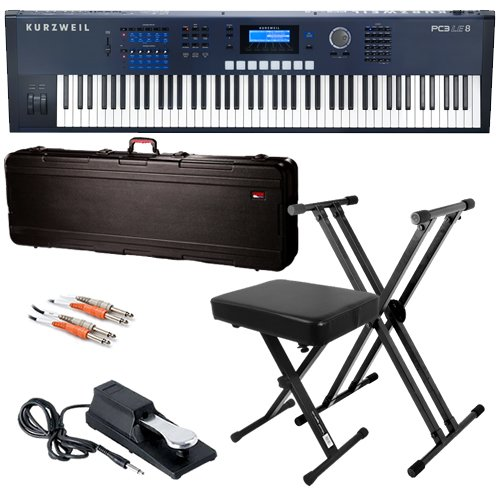 Kurzweil PC3LE8 Keyboard BUNDLE w/ Case, Stand, Bench & Pedal