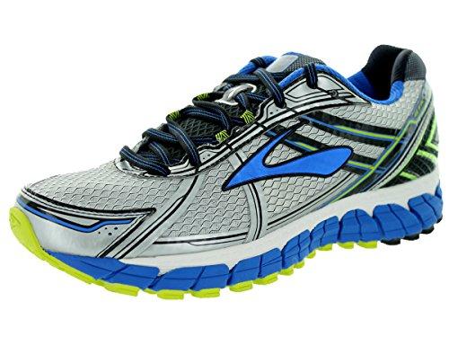 Brooks Men's Adrenaline Gts 15 White/Olympic/Lime Punch Running Shoe 10 Men US